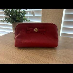Coach small red makeup bag
